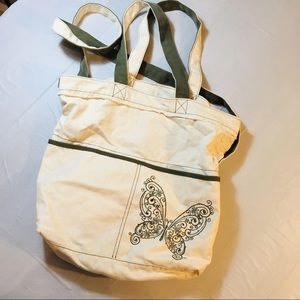 Thirty-One Butterfly Tote Bag